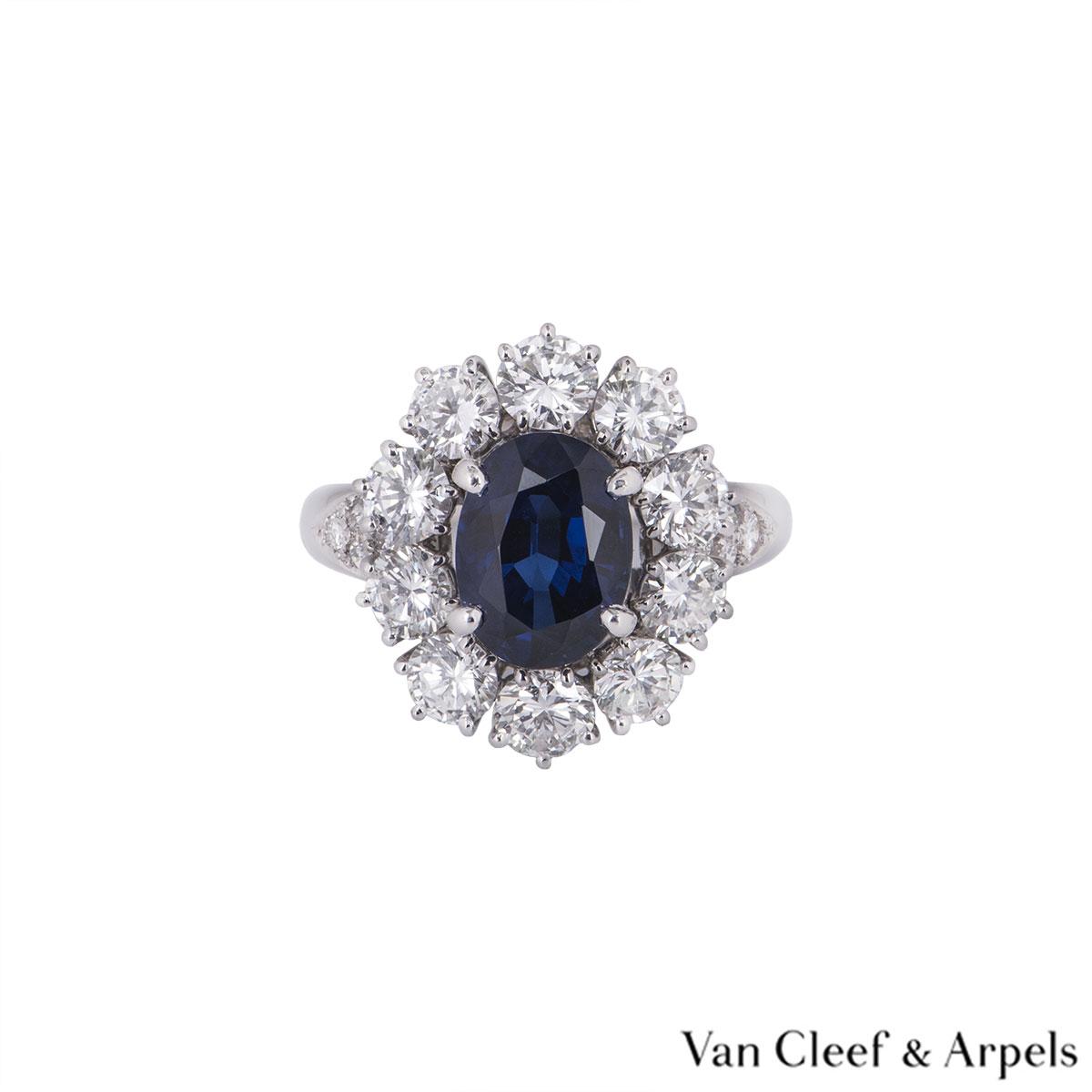 Van Cleef & Arpels Sapphire and Diamond Ring